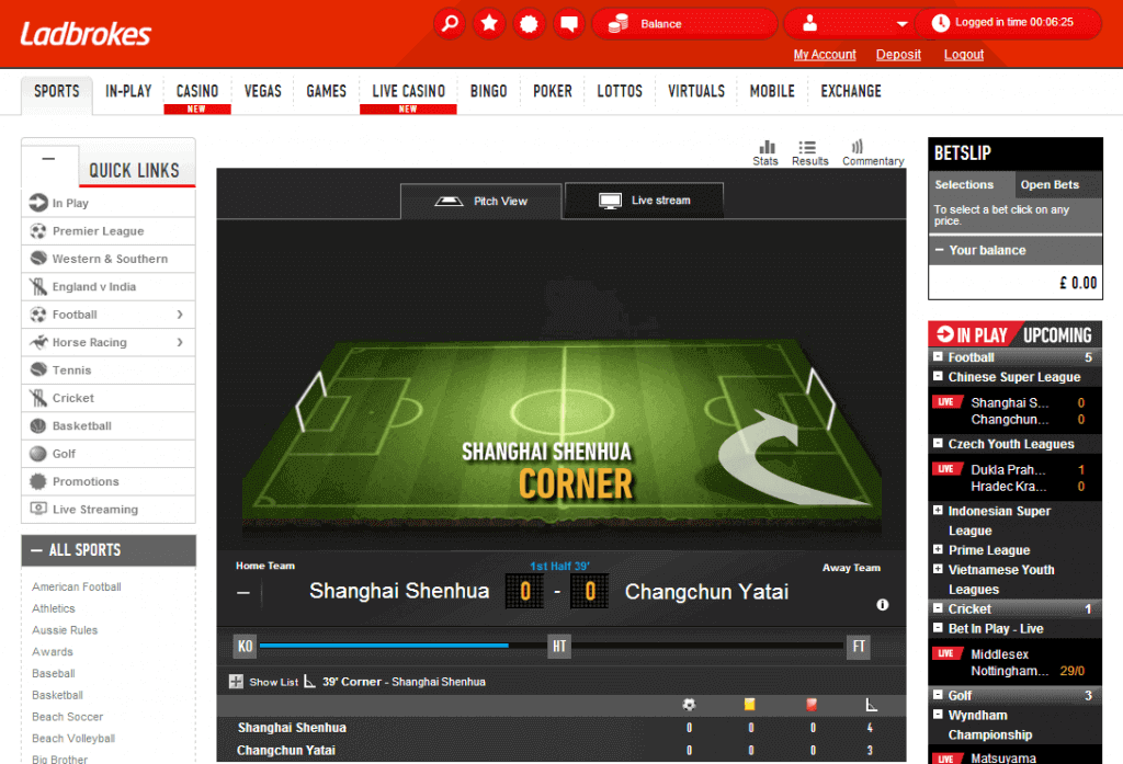 ladbrokes bonus code live streaming